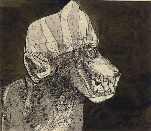 Ganesh Pyne drawing