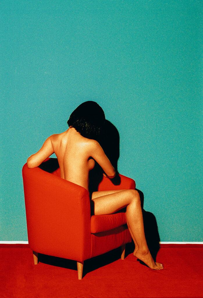 Nude in chair Rala Choi