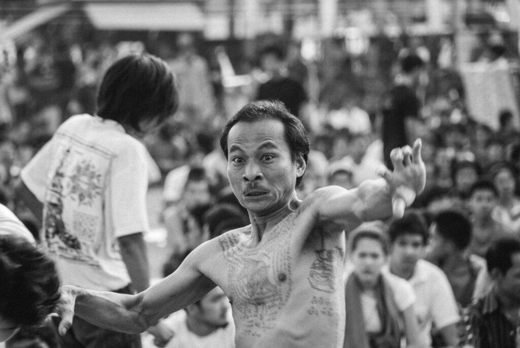 Sak Yant tattoos at Wat bang Phra temple